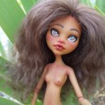 Mala repainted art doll