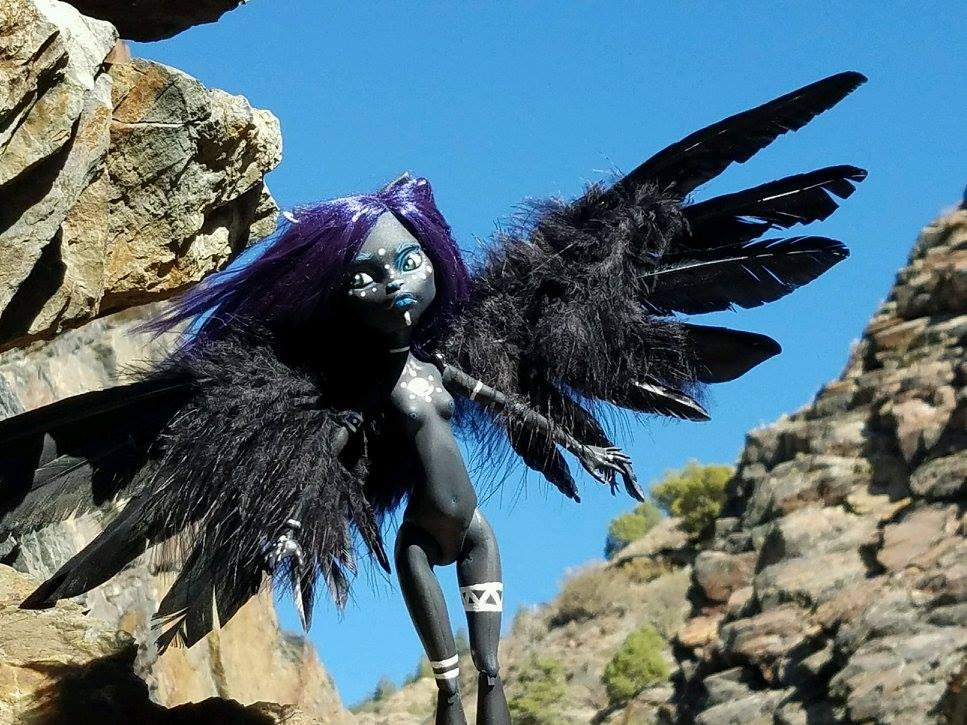 Zara art doll with wings